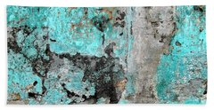 Bath Towel featuring the photograph Wall Abstract 219 by Maria Huntley