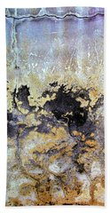 Bath Towel featuring the photograph Wall Abstract 68 by Maria Huntley