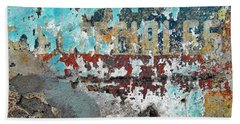Wall Abstract 98 Hand Towel by Maria Huntley