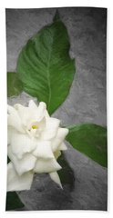 Hand Towel featuring the photograph Wall Flower by Carolyn Marshall