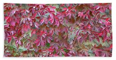 Bath Towel featuring the photograph Wall Of Leaves 1 by Dubi Roman