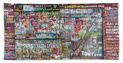 Bath Towel featuring the photograph Wall Of Love by Joel Witmeyer