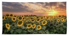 Wall Of Sunflowers Bath Towel