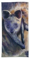 Hand Towel featuring the painting Wallaby Joey by Ryn Shell