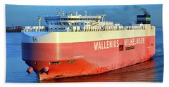 Hand Towel featuring the photograph Wallenius Wilhelmsen Thermopylae 9702443 On The Patapsco River by Bill Swartwout Fine Art Photography