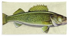 Walleye Id Bath Towel