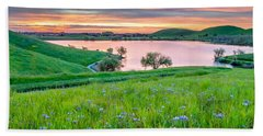Bath Towel featuring the photograph Wally Baskets Above Contra Loma  by Marc Crumpler