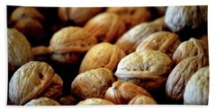 Bath Towel featuring the photograph Walnuts Ready For Baking by Lesa Fine