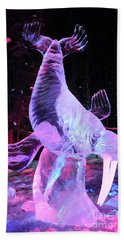 Walrus Ice Art Sculpture - Alaska Hand Towel by Gary Whitton