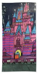 Hand Towel featuring the painting Walt Disney World Cinderrela Castle by Jonathon Hansen
