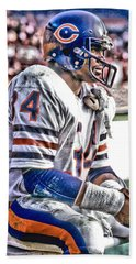 Walter Payton Chicago Bears Art 2 Hand Towel by Joe Hamilton