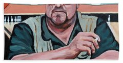 Bath Towel featuring the painting Walter Sobchak by Tom Roderick