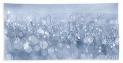 Waltz In The Garden Blue Hand Towel