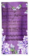 Waltz Of The Flowers In Purple Hand Towel