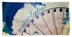 Wander And Explore Bath Towel by Robin Dickinson