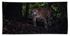 Hand Towel featuring the photograph Wandering Jaguar by Wade Aiken