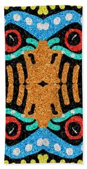 War Eagle Totem Mosaic Bath Towel