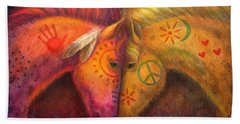 War Horse And Peace Horse Bath Towel