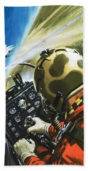 War In The Air Hand Towel by Wilf Hardy
