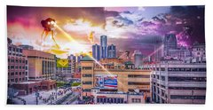 Hand Towel featuring the photograph War Of The Worlds Detroit By Nicholas Grunas by Nicholas  Grunas