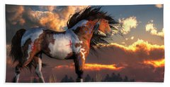 Warhorse Hand Towel by Daniel Eskridge
