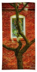 Hand Towel featuring the photograph Warm Bricks by Mitch Shindelbower