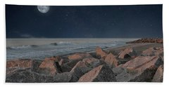 Warm Moonrise At For Fisher Hand Towel
