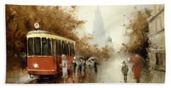Warm Moscow Autumn Of 1953 Hand Towel