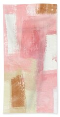 Warm Spring 2- Abstract Art By Linda Woods Bath Towel