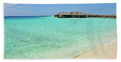 Bath Towel featuring the photograph Warm Welcoming. Maldives by Jenny Rainbow