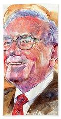 Warren Buffett Painting Hand Towel