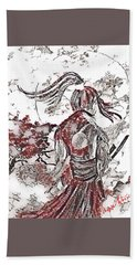 Warrior Moon Anime Bath Towel by Vennie Kocsis