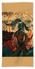 Warrior Moon Bath Towel by Vennie Kocsis