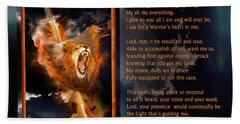 Warrior's Heart Poetry Bath Towel