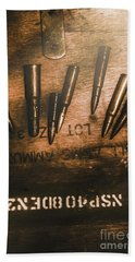Wars And Old Ammunition Bath Towel