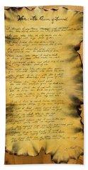 War's Poem Bath Towel