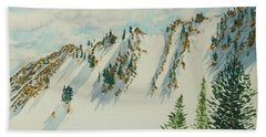 Wasatch Mountain Powder Chutes Hand Towel