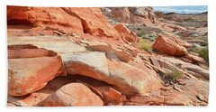 Wash 5 In Valley Of Fire Bath Towel by Ray Mathis