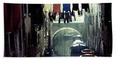 Washday In Venice Italy Bath Towel