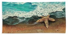 Hand Towel featuring the painting Washed A Shore by Darice Machel McGuire