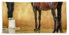 Washing A Horse Hand Towel by Robert FERD Frank