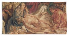 Detail From Washing And Anointing Of The Body Of Christ Bath Towel
