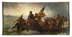 Hand Towel featuring the photograph Washington Crossing The Delaware by John Stephens