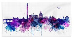Washington Dc Skyline Hand Towel