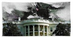 Washington Dc, White House Bath Towel by Gull G