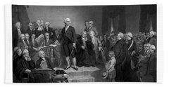 Washington Delivering His Inaugural Address Bath Towel
