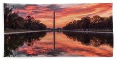 Washington Monument Sunrise Hand Towel