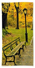 Washington Square Bench Bath Towel