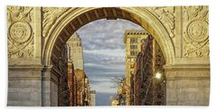 Washington Square Golden Arch Hand Towel by Jeffrey Friedkin
