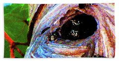 Wasps At Work Bath Towel